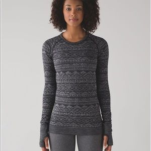 NWT Rest Less Pullover in Heathered Black Size 8